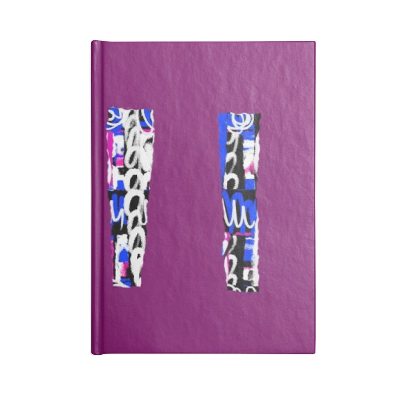 Purple Pylons for Prince Accessories Notebook by Abstract Bag Company
