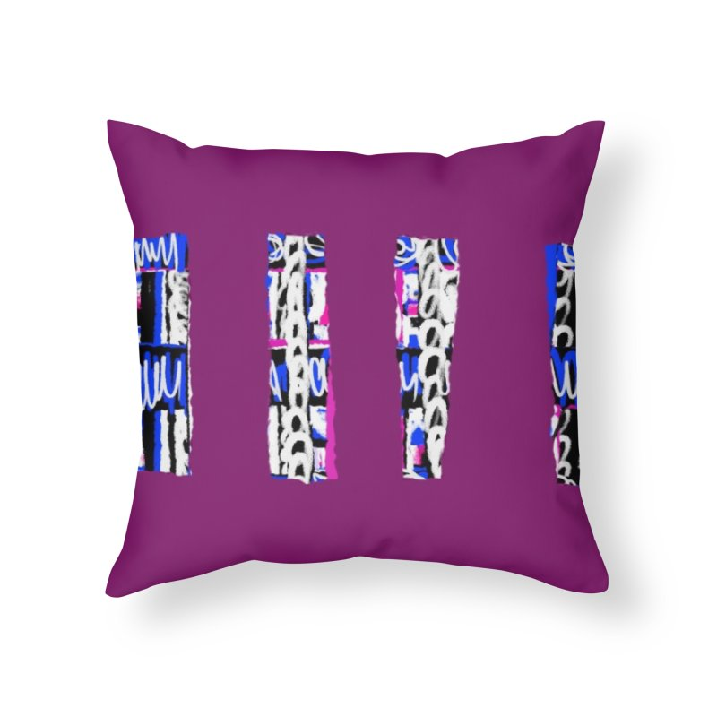 Purple Pylons for Prince Home Throw Pillow by Abstract Bag Company