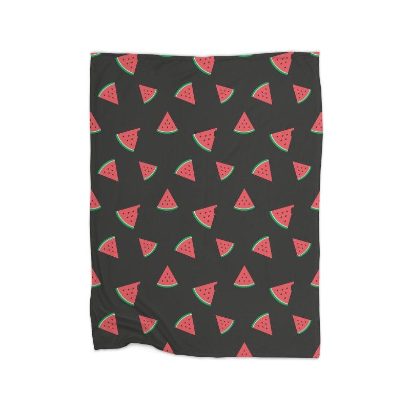Watermelon Slice in Fleece Blanket Blanket by abstractocreate's Artist Shop