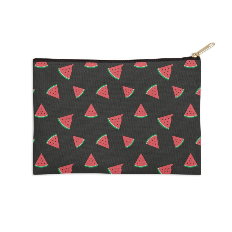 Watermelon Slice Accessories Zip Pouch by abstractocreate's Artist Shop