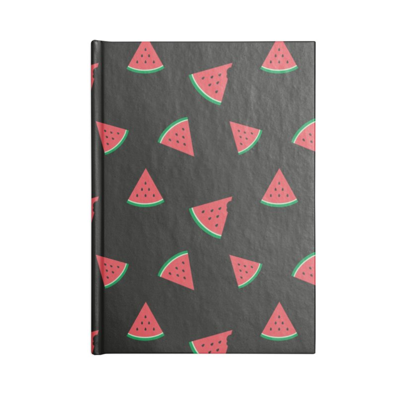 Watermelon Slice Accessories Lined Journal Notebook by abstractocreate's Artist Shop
