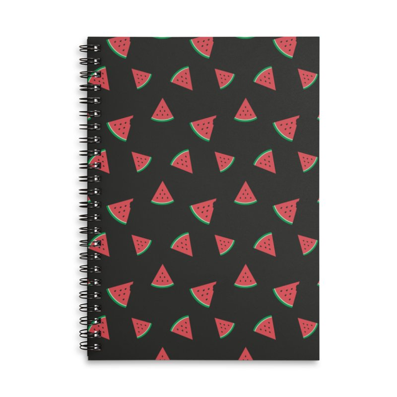 Watermelon Slice Accessories Lined Spiral Notebook by abstractocreate's Artist Shop