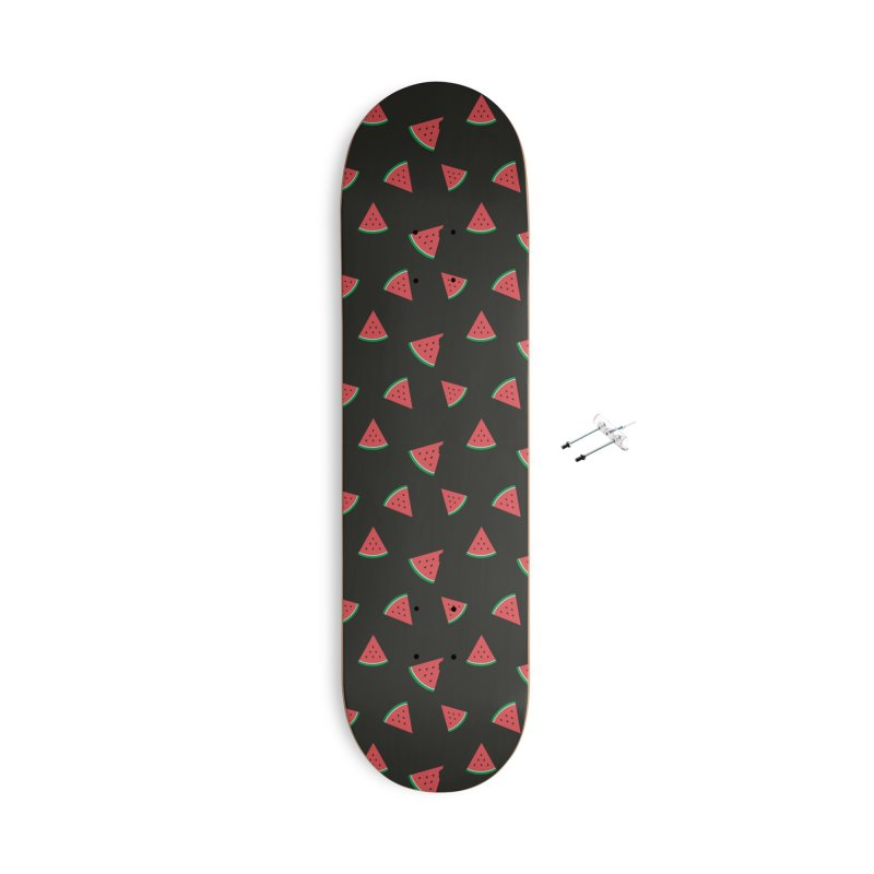 Watermelon Slice Accessories Skateboard by abstractocreate's Artist Shop