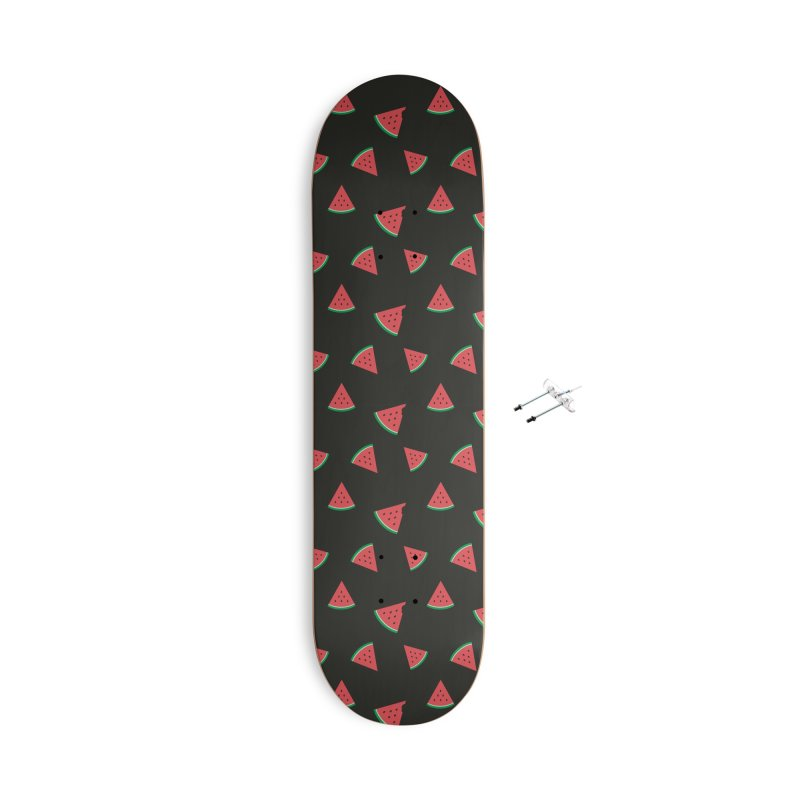 Watermelon Slice Accessories With Hanging Hardware Skateboard by abstractocreate's Artist Shop