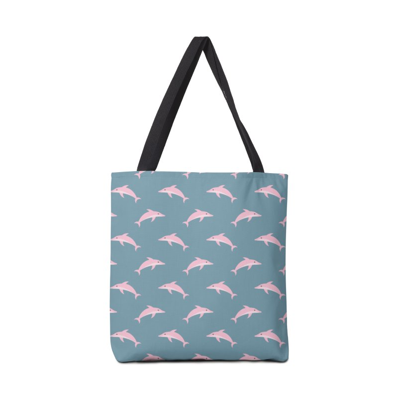 Pink Dolphin Accessories Bag by abstractocreate's Artist Shop