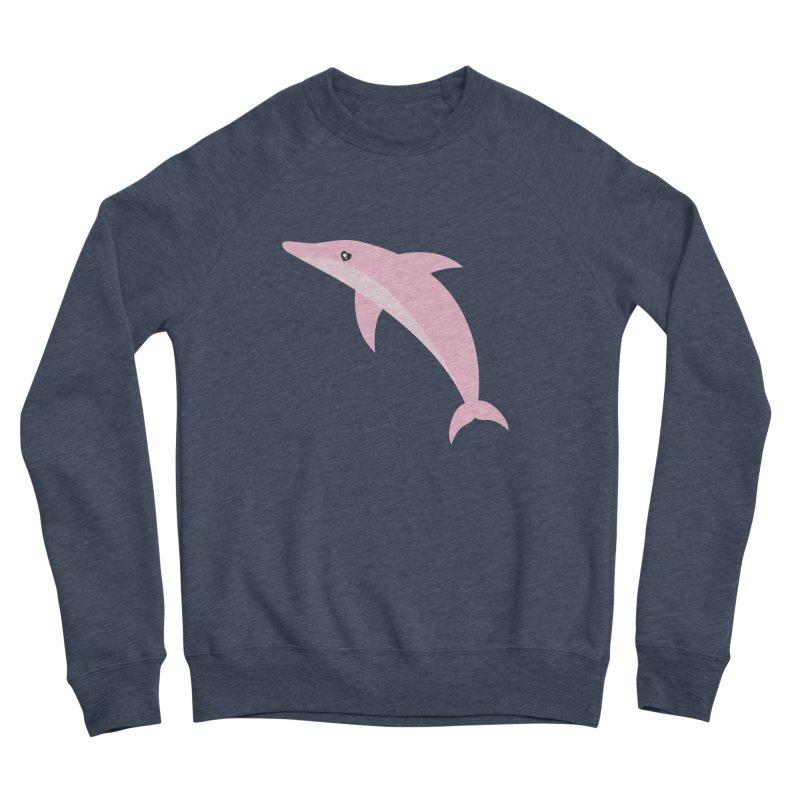 Pink Dolphin Women's Sponge Fleece Sweatshirt by abstractocreate's Artist Shop