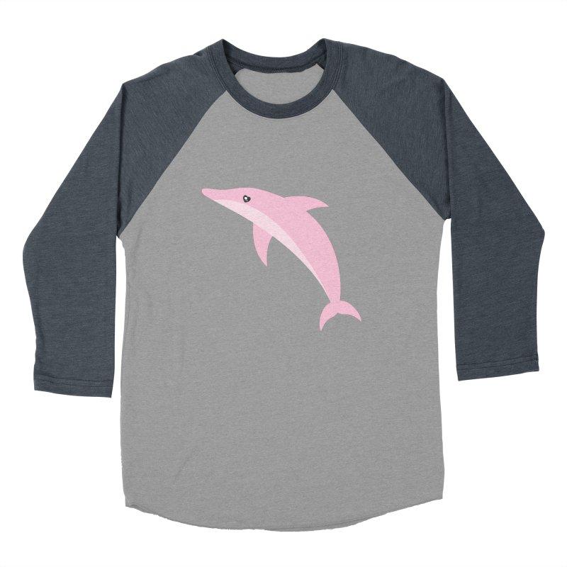 Pink Dolphin Men's Baseball Triblend Longsleeve T-Shirt by abstractocreate's Artist Shop