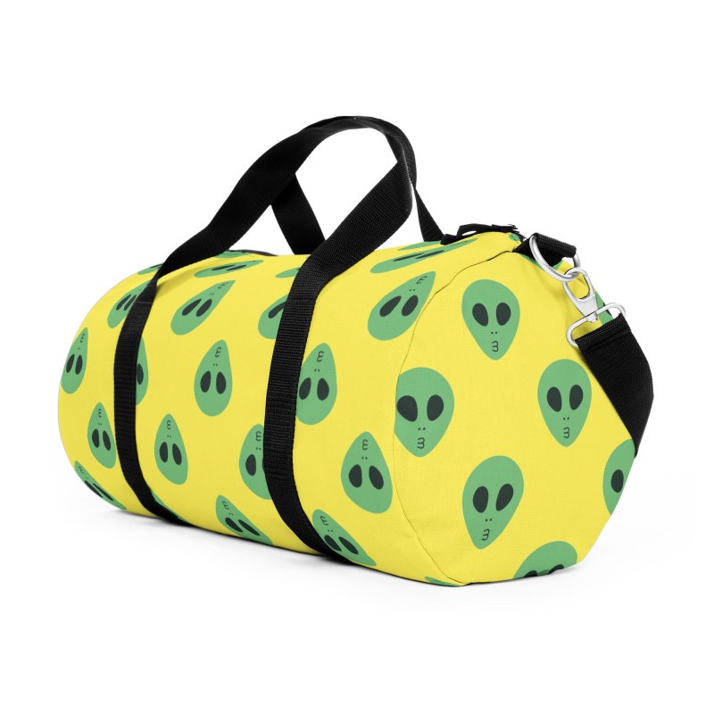 Alien Tumblr Accessories Duffel Bag Bag by abstractocreate's Artist Shop