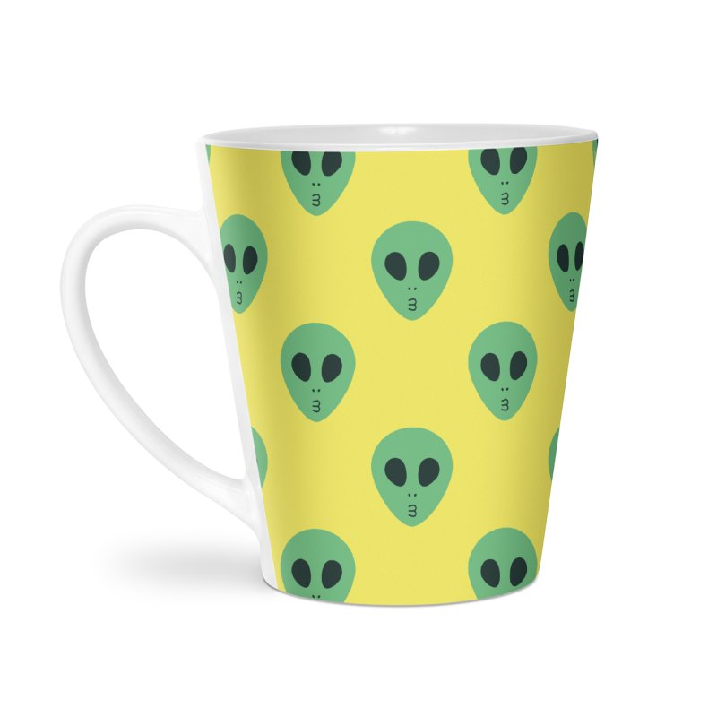 Alien Tumblr Accessories Latte Mug by abstractocreate's Artist Shop
