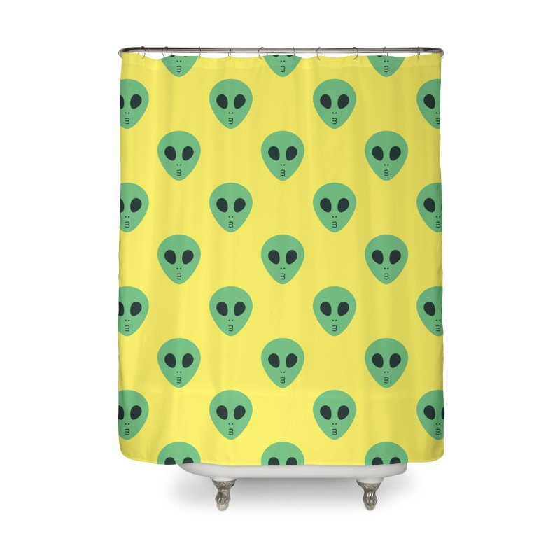 Alien Tumblr Home Shower Curtain by abstractocreate's Artist Shop