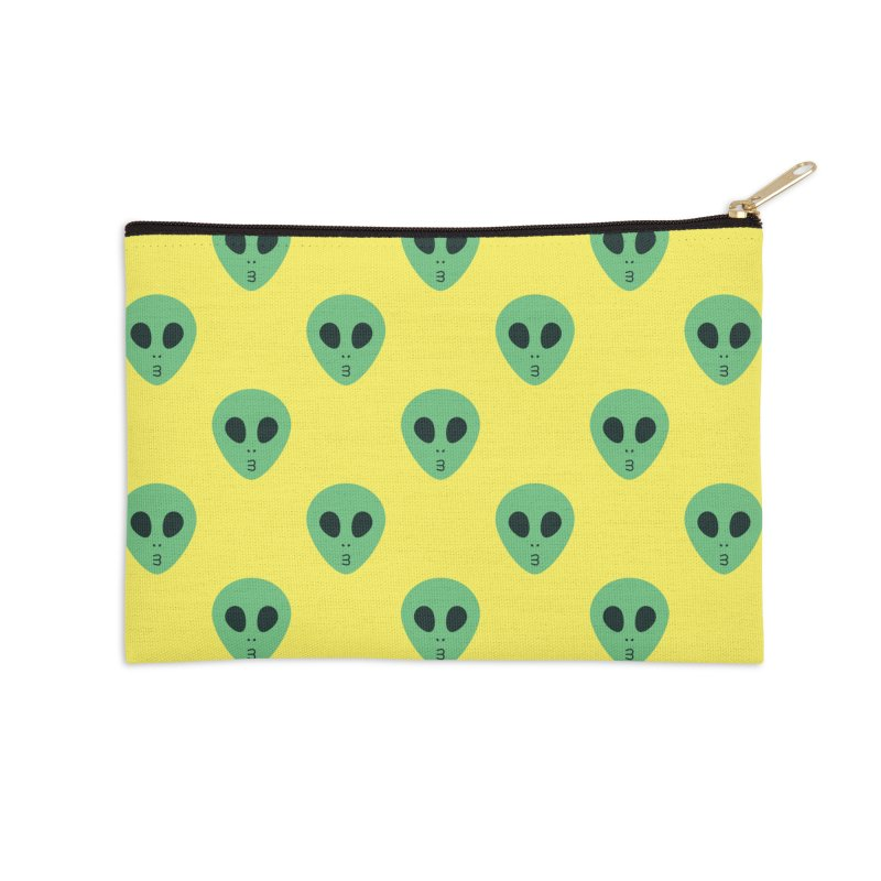 Alien Tumblr Accessories Zip Pouch by abstractocreate's Artist Shop