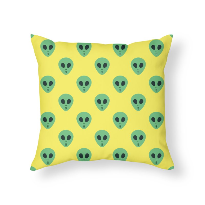 Alien Tumblr Home Throw Pillow by abstractocreate's Artist Shop