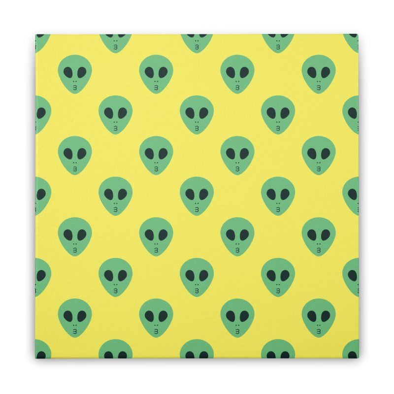 Alien Tumblr Home Stretched Canvas by abstractocreate's Artist Shop