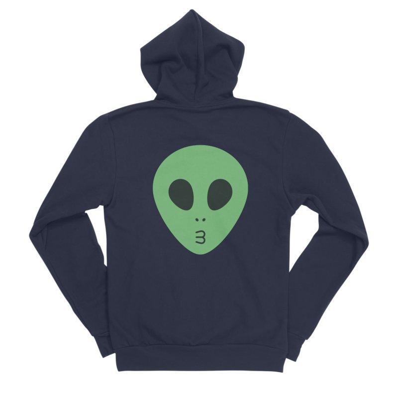 Alien Tumblr Men's Sponge Fleece Zip-Up Hoody by abstractocreate's Artist Shop