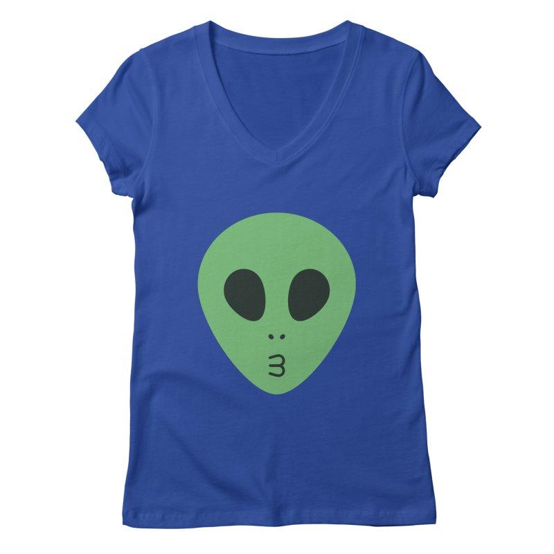 Alien Tumblr Women's Regular V-Neck by abstractocreate's Artist Shop