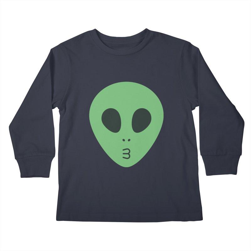 Alien Tumblr Kids Longsleeve T-Shirt by abstractocreate's Artist Shop