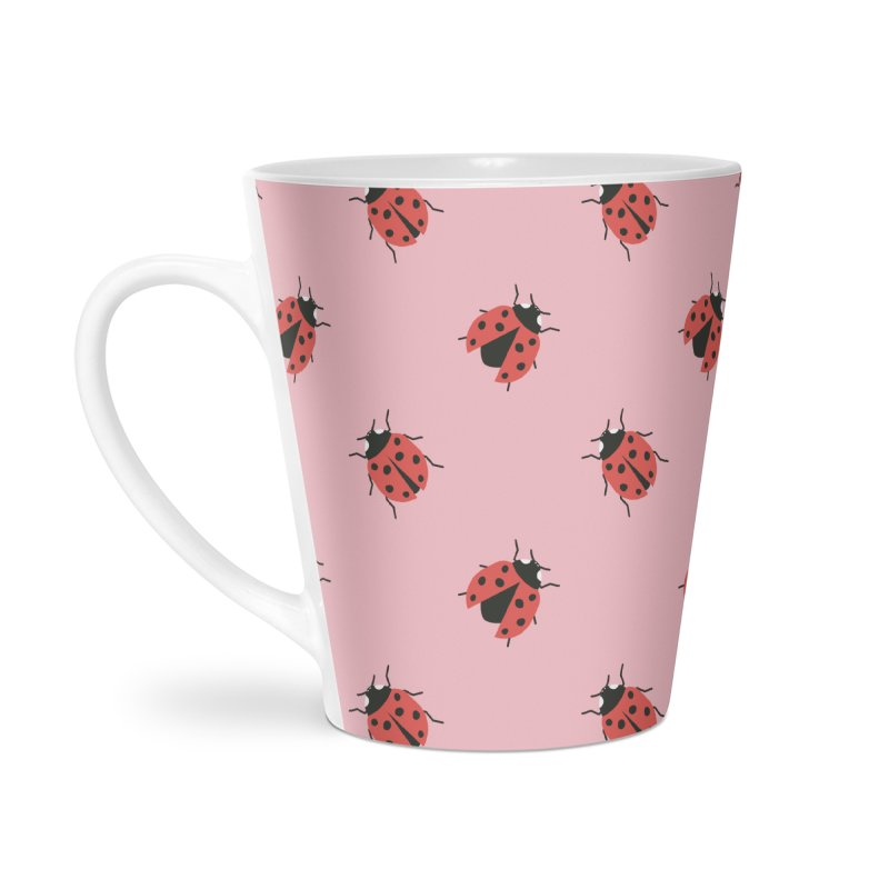 Ladybug Pattern Accessories Latte Mug by abstractocreate's Artist Shop