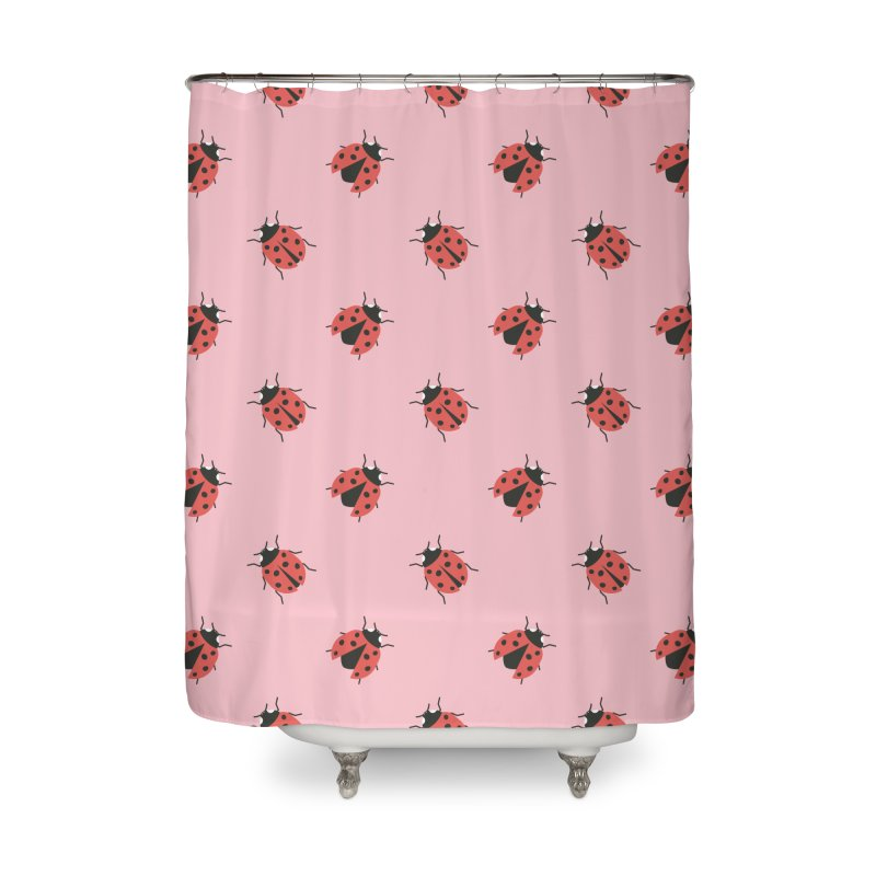 Ladybug Pattern Home Shower Curtain by abstractocreate's Artist Shop