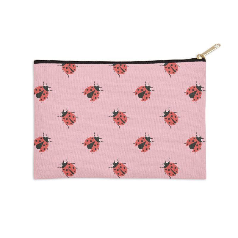 Ladybug Pattern Accessories Zip Pouch by abstractocreate's Artist Shop