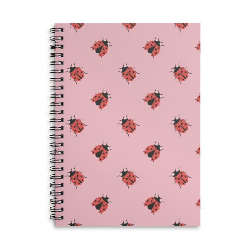 Ladybug Pattern Accessories Lined Spiral Notebook by abstractocreate's Artist Shop