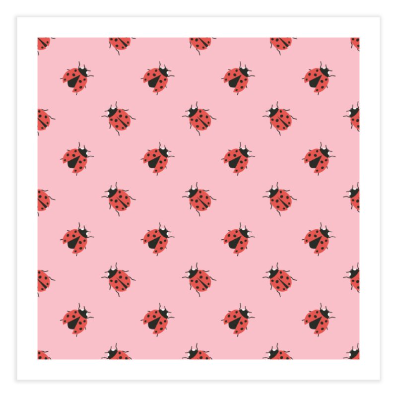 Ladybug Pattern Home Fine Art Print by abstractocreate's Artist Shop