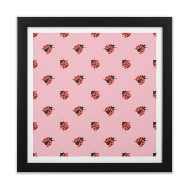 Ladybug Pattern Home Framed Fine Art Print by abstractocreate's Artist Shop