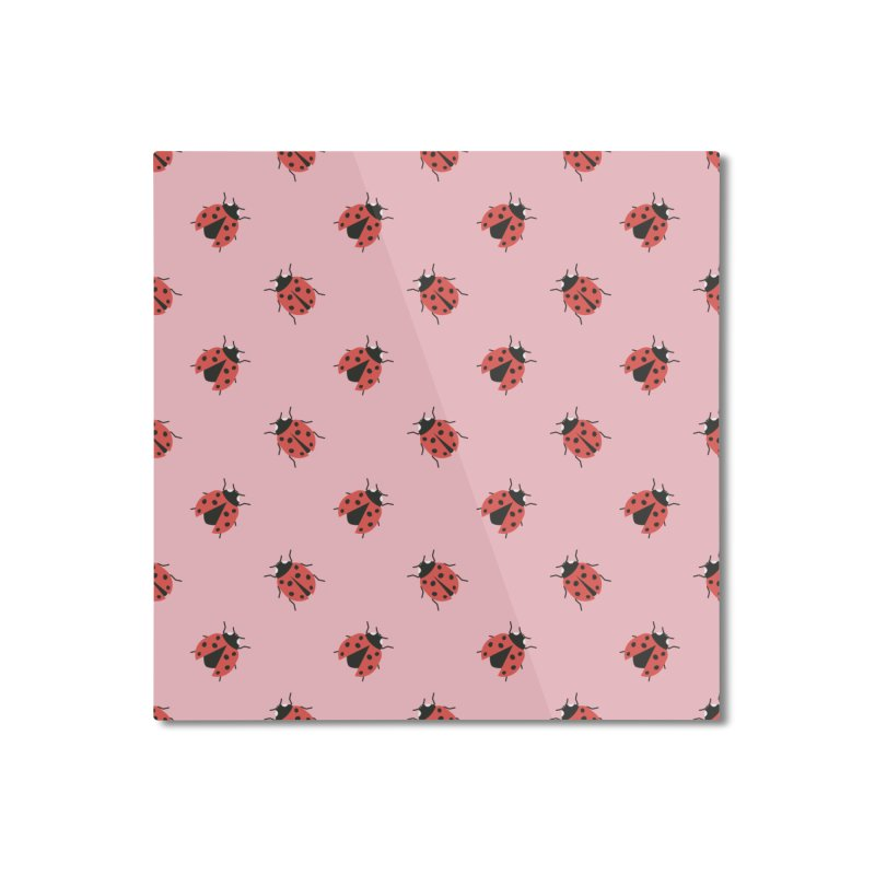 Ladybug Pattern Home Mounted Aluminum Print by abstractocreate's Artist Shop