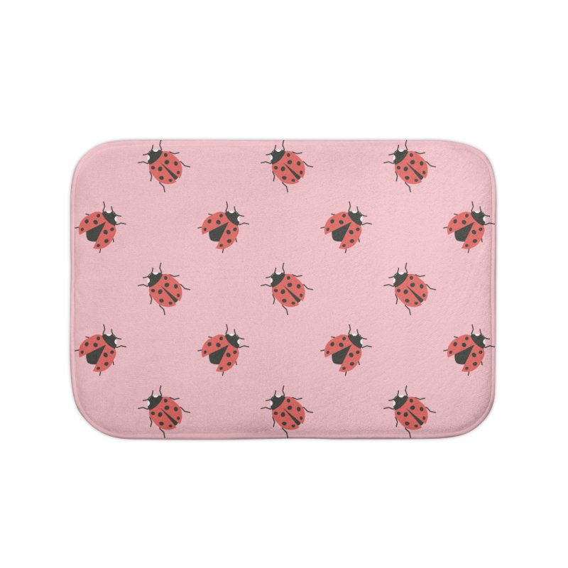 Ladybug Pattern Home Bath Mat by abstractocreate's Artist Shop