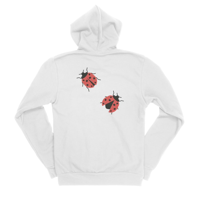 Ladybug Pattern Women's Sponge Fleece Zip-Up Hoody by abstractocreate's Artist Shop