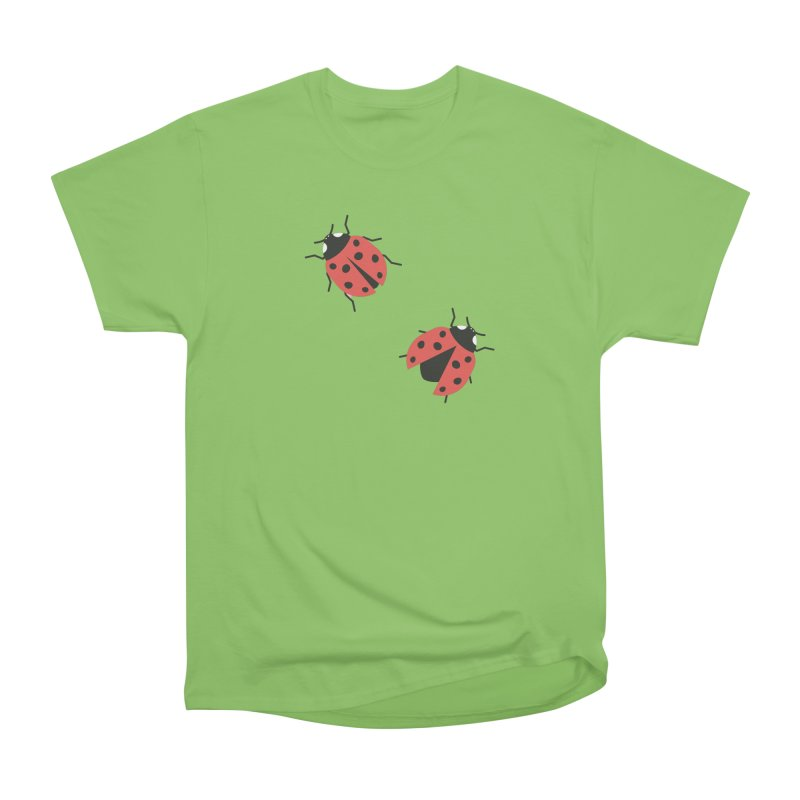 Ladybug Pattern Women's Heavyweight Unisex T-Shirt by abstractocreate's Artist Shop