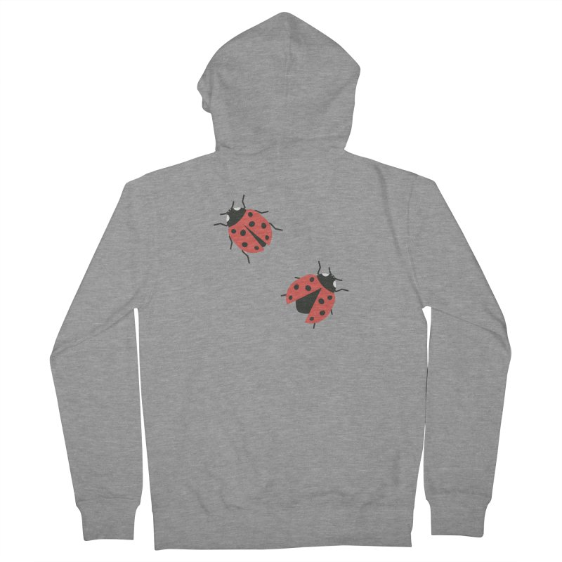 Ladybug Pattern Women's French Terry Zip-Up Hoody by abstractocreate's Artist Shop