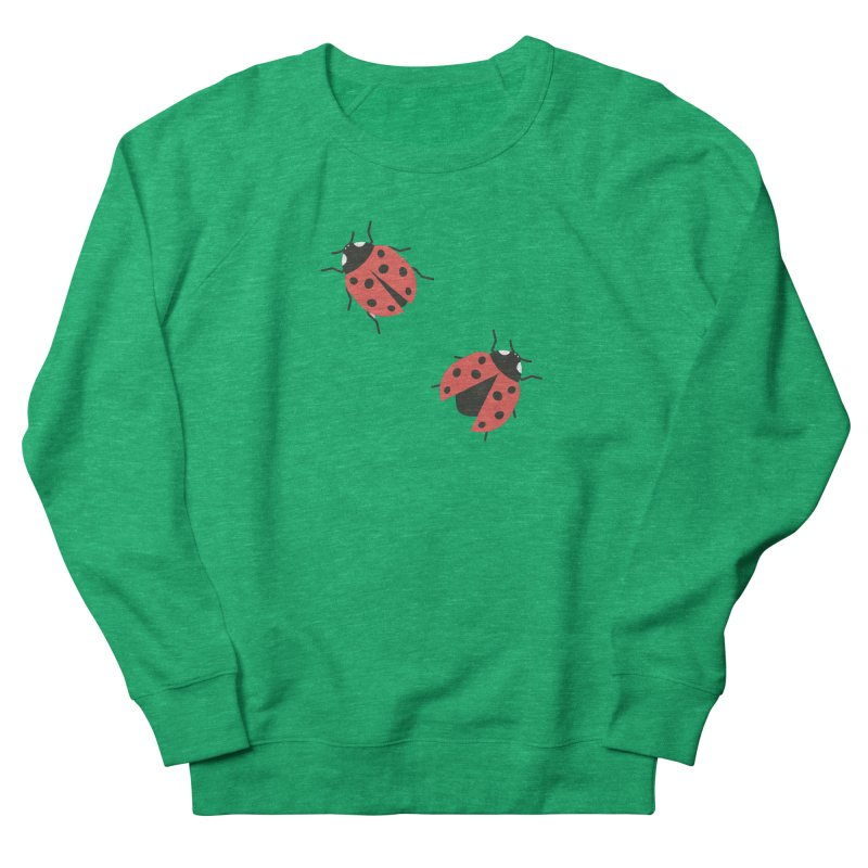 Ladybug Pattern Women's French Terry Sweatshirt by abstractocreate's Artist Shop