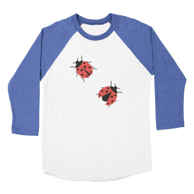 Ladybug Pattern Men's Baseball Triblend Longsleeve T-Shirt by abstractocreate's Artist Shop