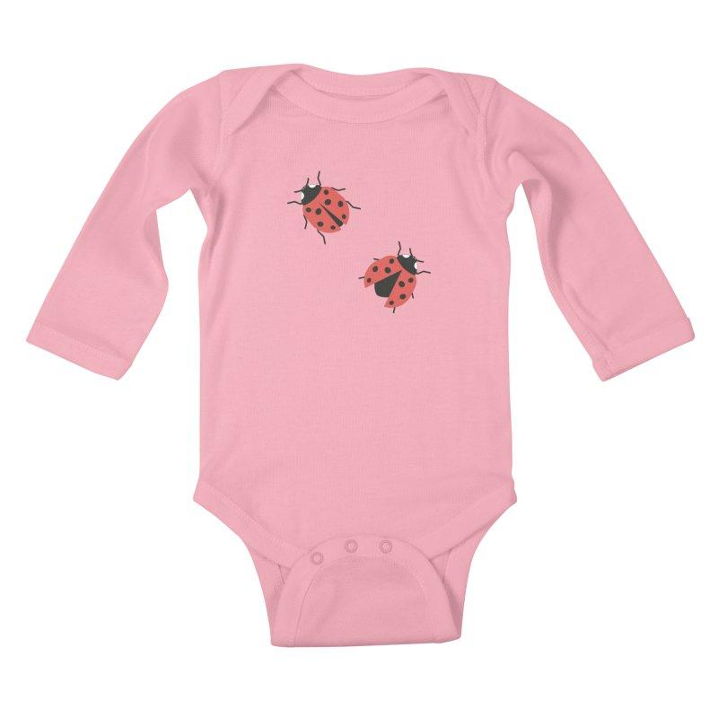 Ladybug Pattern Kids Baby Longsleeve Bodysuit by abstractocreate's Artist Shop