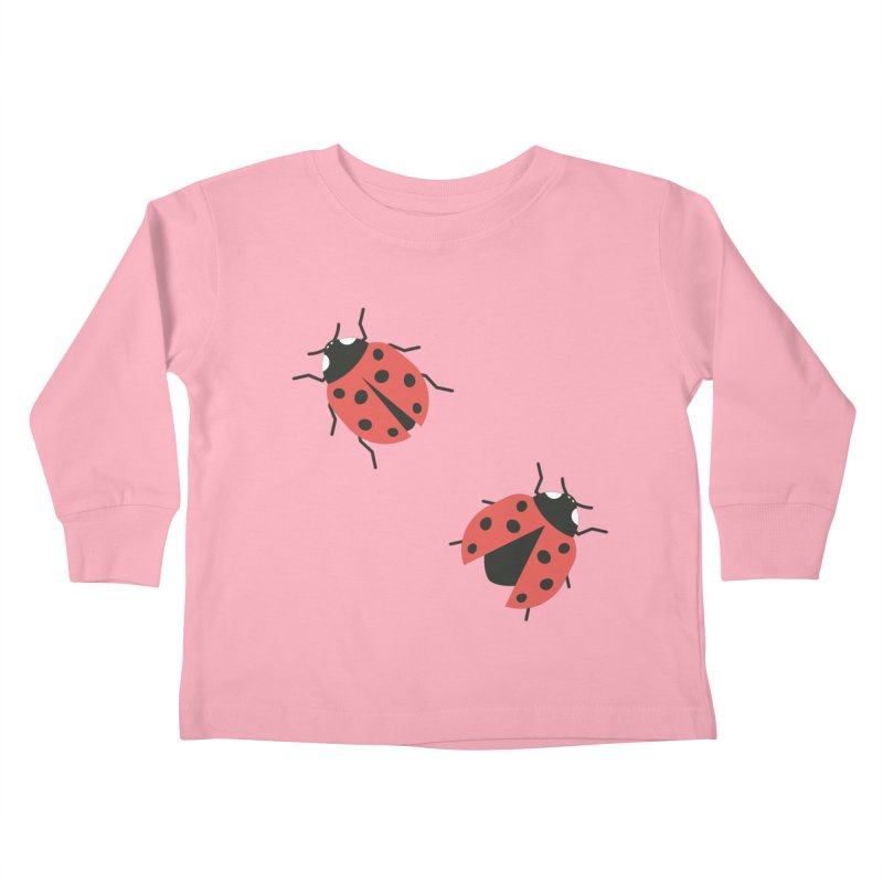 Ladybug Pattern Kids Toddler Longsleeve T-Shirt by abstractocreate's Artist Shop