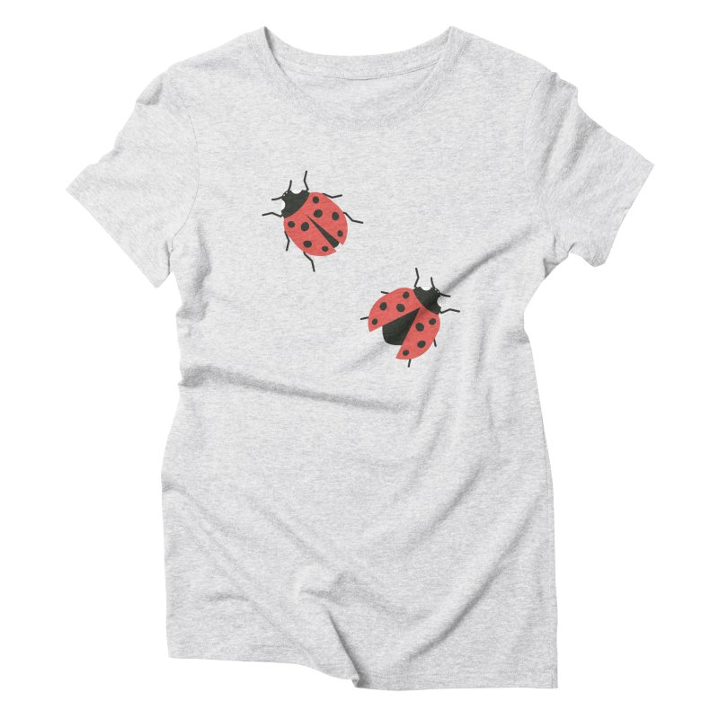Ladybug Pattern Women's Triblend T-Shirt by abstractocreate's Artist Shop
