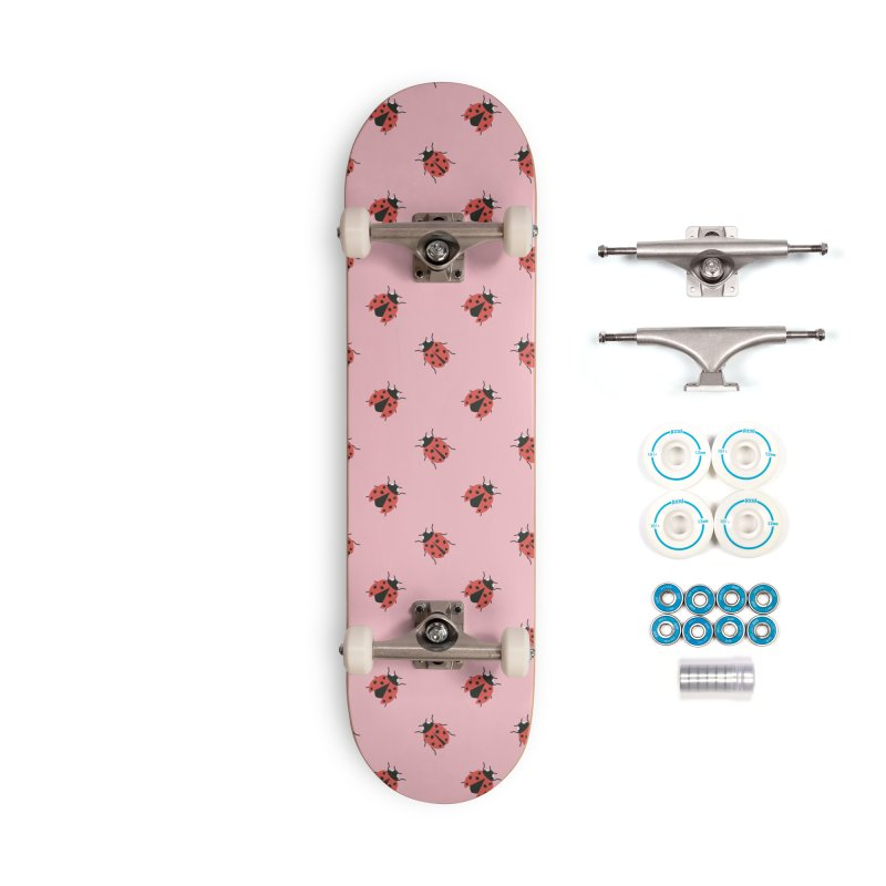 Ladybug Pattern Accessories Skateboard by abstractocreate's Artist Shop