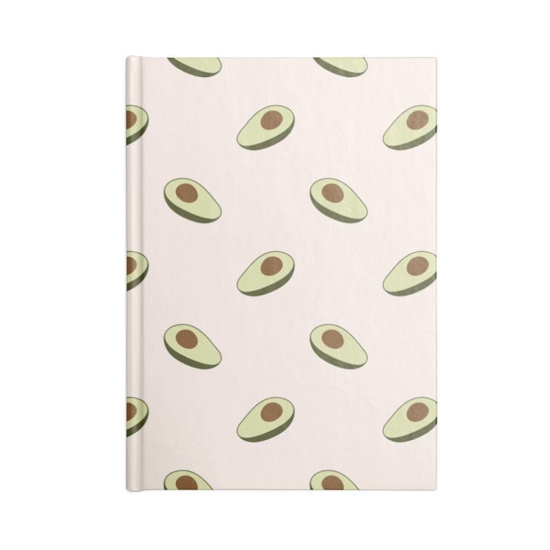 Avocado Pattern Accessories Blank Journal Notebook by abstractocreate's Artist Shop