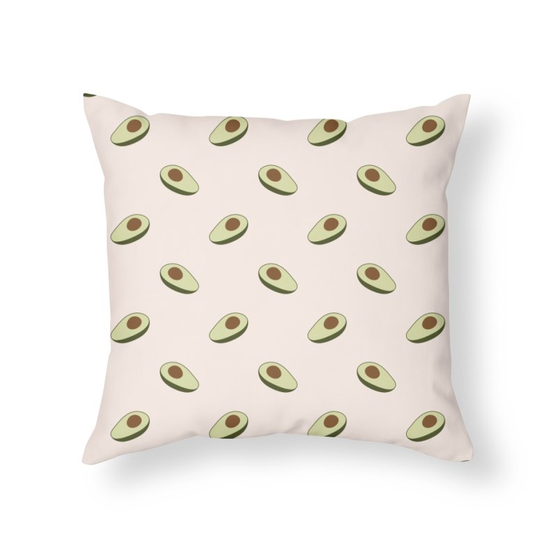 Avocado Pattern Home Throw Pillow by abstractocreate's Artist Shop