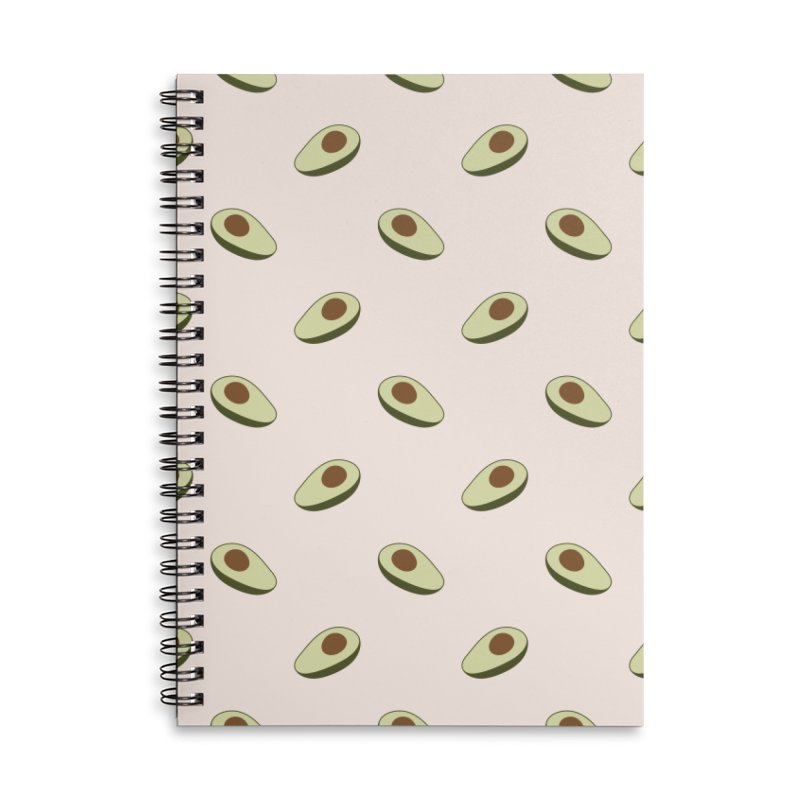 Avocado Pattern Accessories Lined Spiral Notebook by abstractocreate's Artist Shop