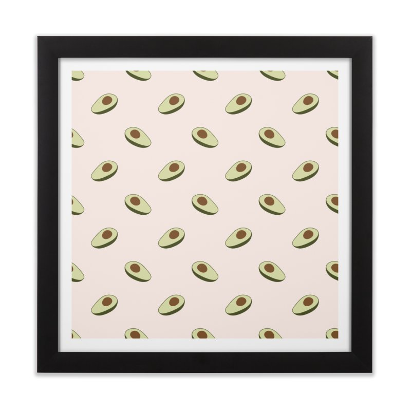 Avocado Pattern Home Framed Fine Art Print by abstractocreate's Artist Shop