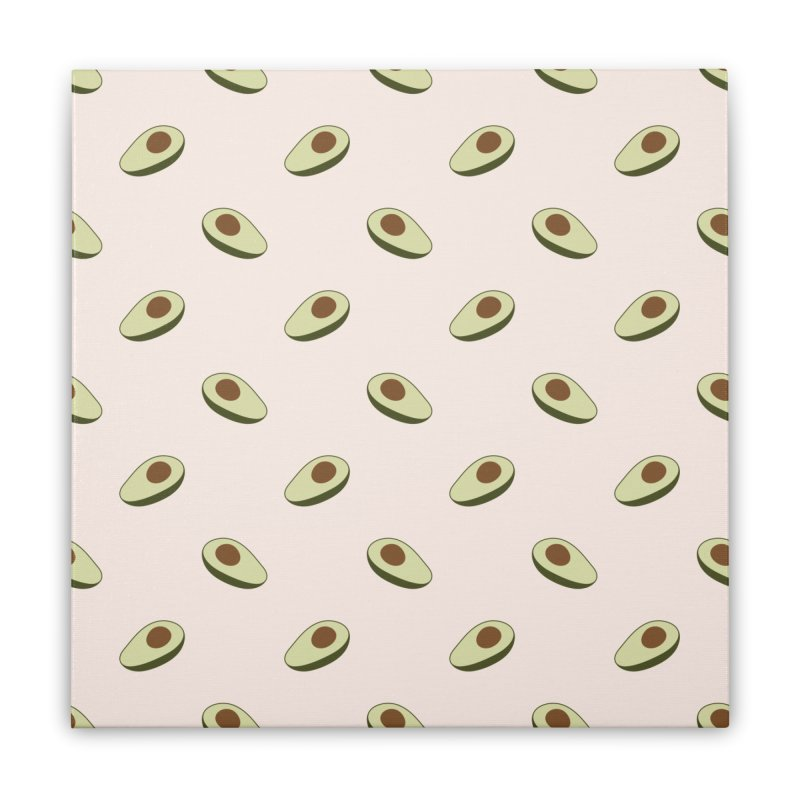 Avocado Pattern Home Stretched Canvas by abstractocreate's Artist Shop