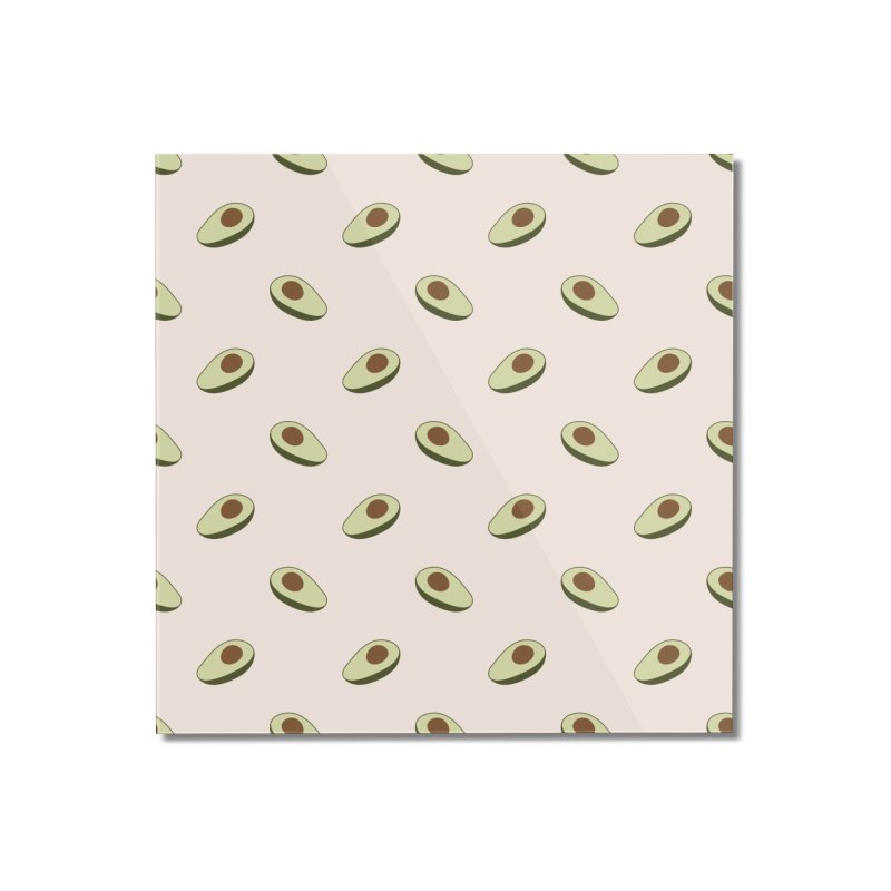 Avocado Pattern Home Mounted Acrylic Print by abstractocreate's Artist Shop