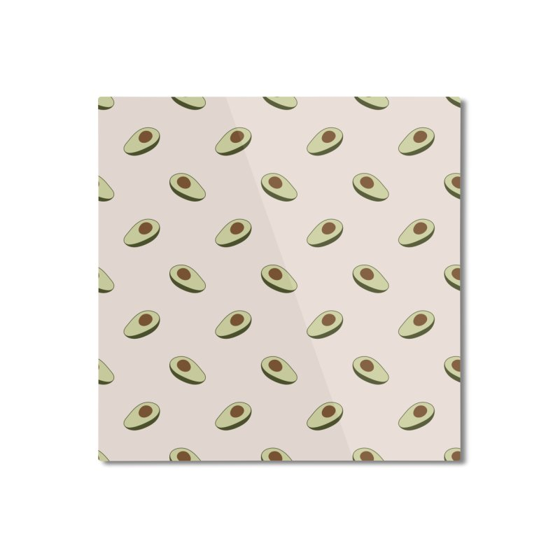 Avocado Pattern Home Mounted Aluminum Print by abstractocreate's Artist Shop