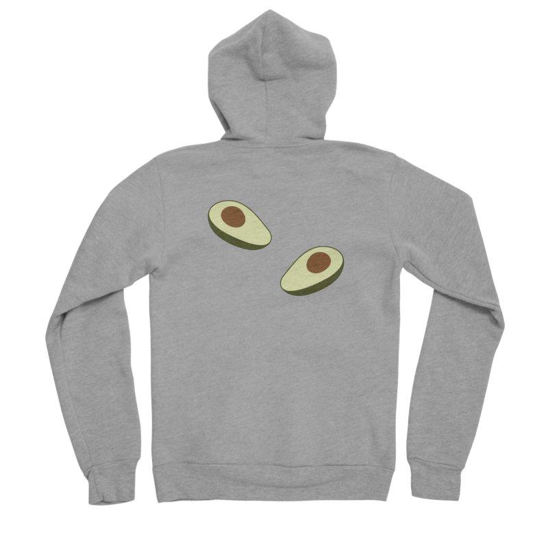 Avocado Pattern Men's Sponge Fleece Zip-Up Hoody by abstractocreate's Artist Shop