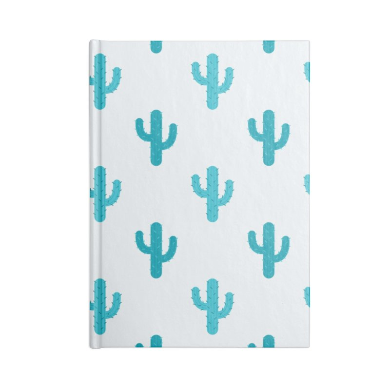 Cactuses Pattern Accessories Lined Journal Notebook by abstractocreate's Artist Shop