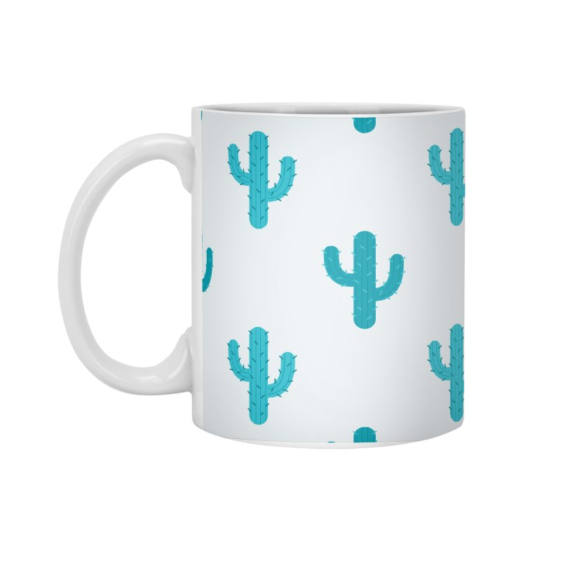 Cactuses Pattern Accessories Standard Mug by abstractocreate's Artist Shop