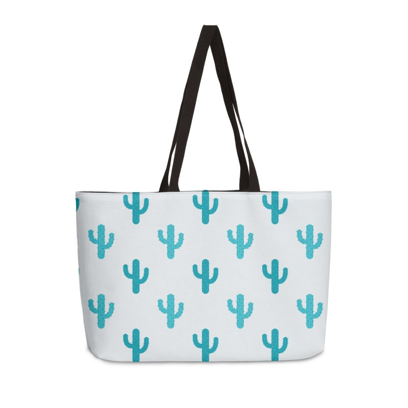 Cactuses Pattern Accessories Weekender Bag Bag by abstractocreate's Artist Shop