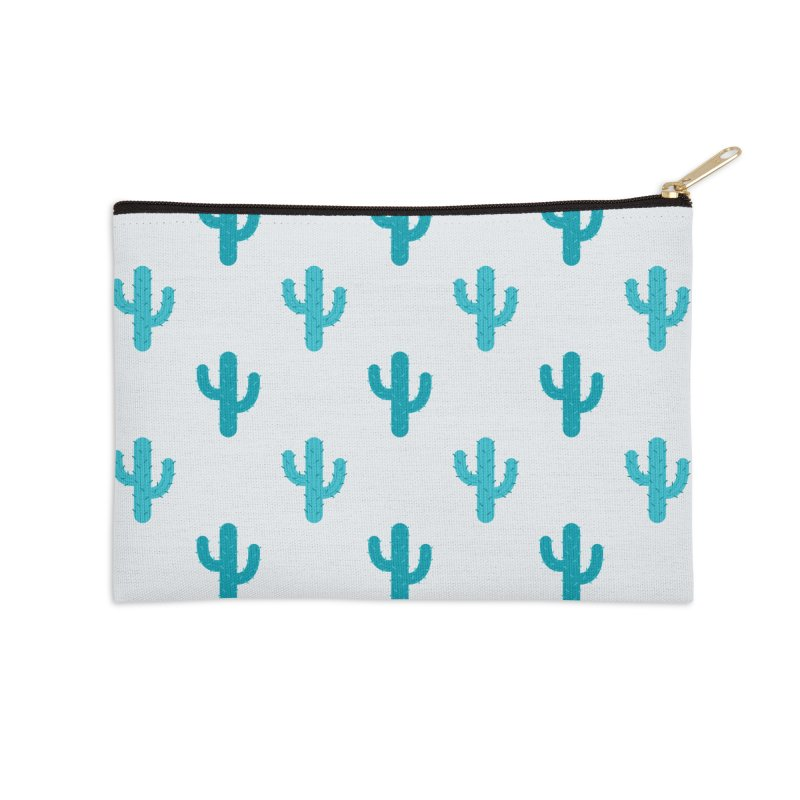 Cactuses Pattern Accessories Zip Pouch by abstractocreate's Artist Shop