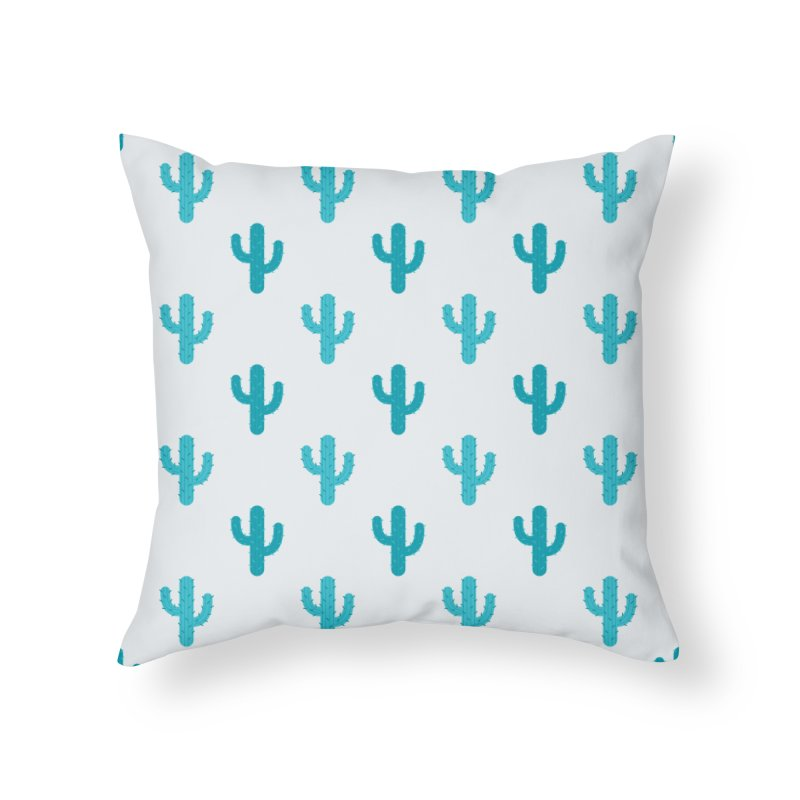 Cactuses Pattern Home Throw Pillow by abstractocreate's Artist Shop